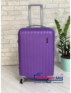 Чемодан на колесах «Корона» Фиолетовый из ABS
