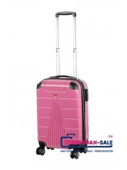 Чемодан на колесах «Luyida» Светло-розовый из Поликорбоната