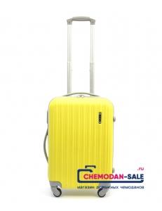 Чемодан на колесах «Корона» Желтый из ABS