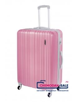 Чемодан на колесах «Корона» Светло-розовый из ABS