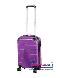 Чемодан на колесах «Luyida» Фиолетовый из Поликорбоната